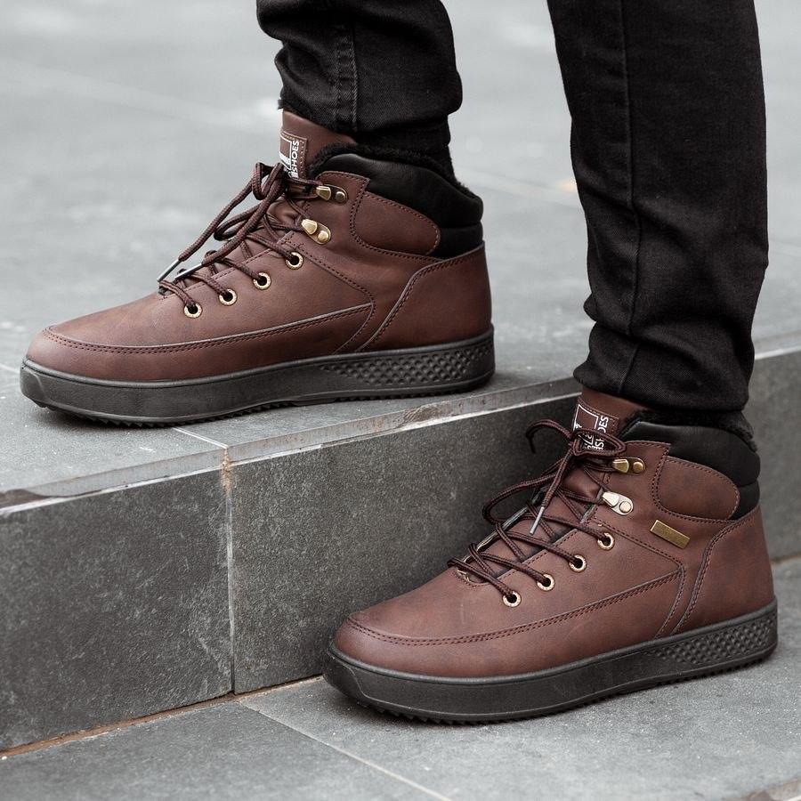 Мужские зимние ботинки на меху 0961