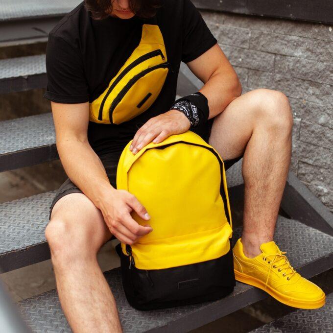 Комлект Рюкзак + Бананка black\yellow