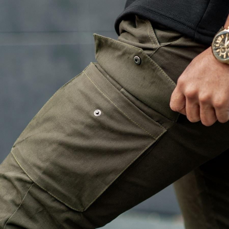 Теплые карго штаны South khaki - фото 2