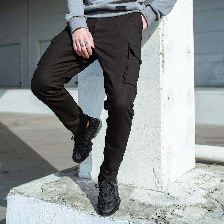 Карго штаны South black - фото 2