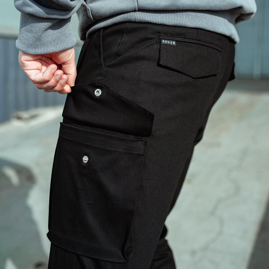 Карго штаны South black - фото 5