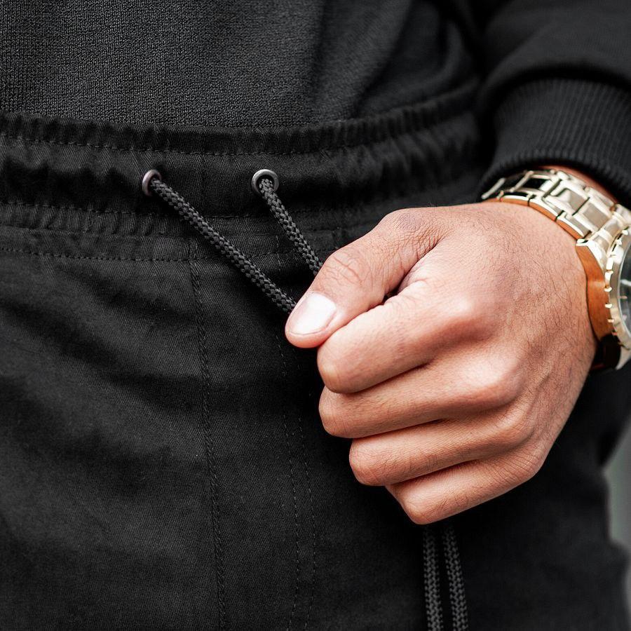 Теплые штаны джоггеры South black - фото 3
