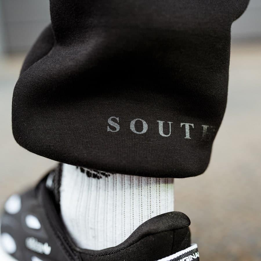Спортивные штаны South basic  black fleece - фото 3