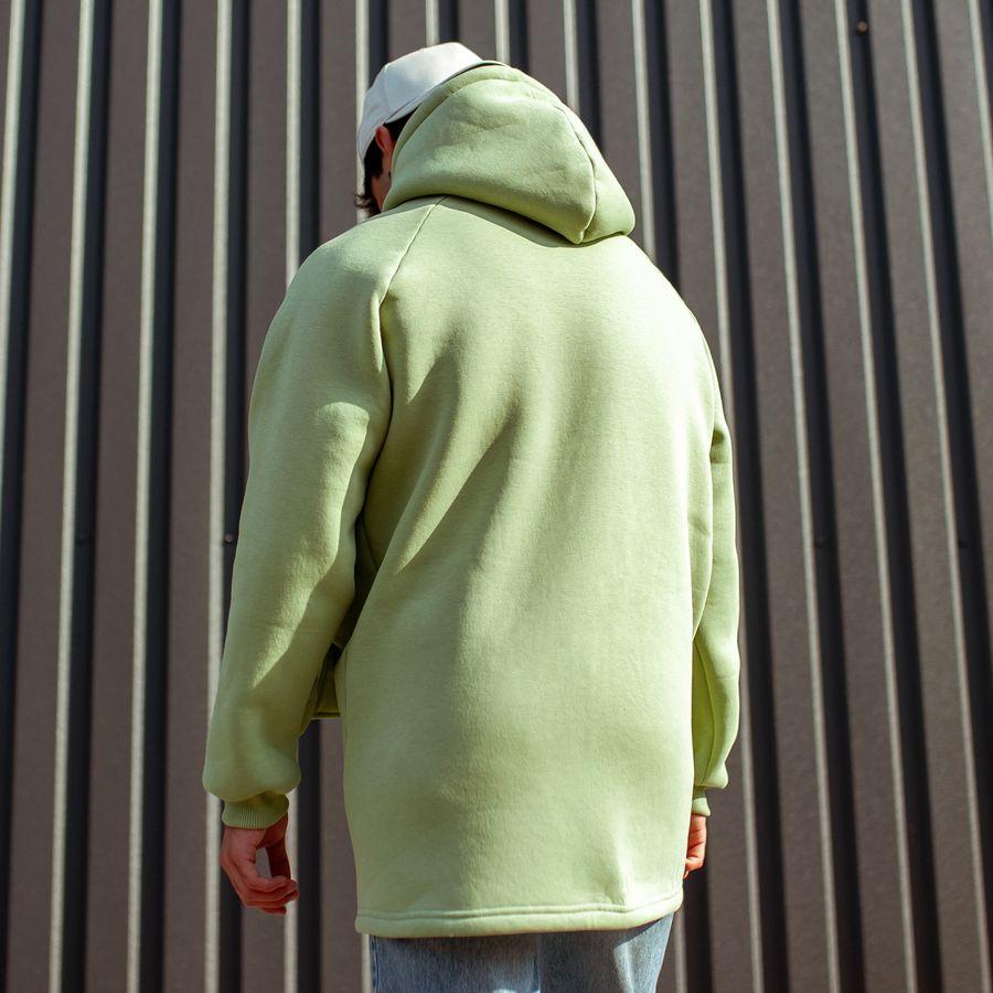 Худи South basic fleece mint oversize  - фото 5