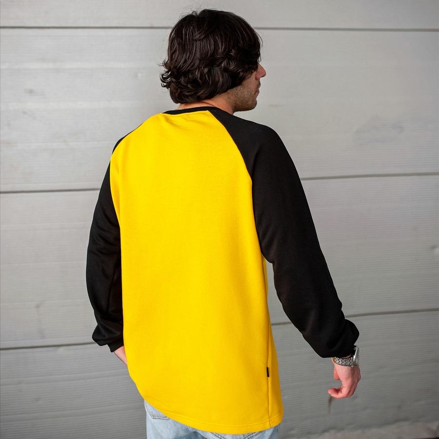 Свитшот South Oversize yellow\black  (без манжета) - фото 4