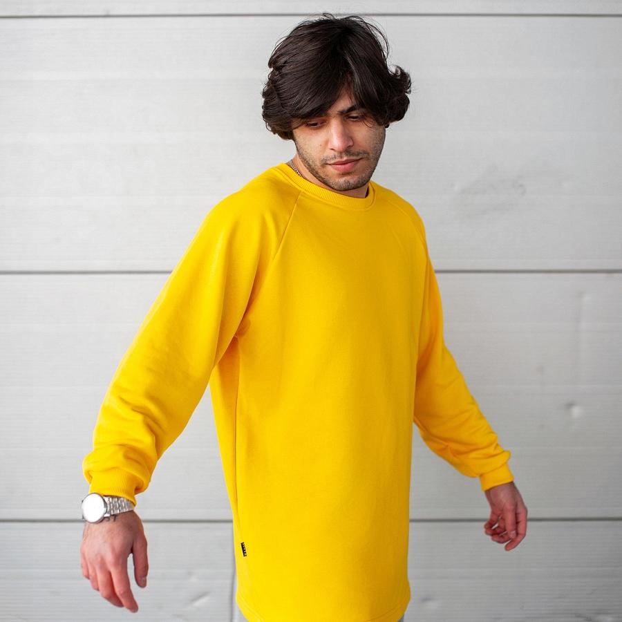 Свитшот South Oversize yellow (без манжета) - фото 2