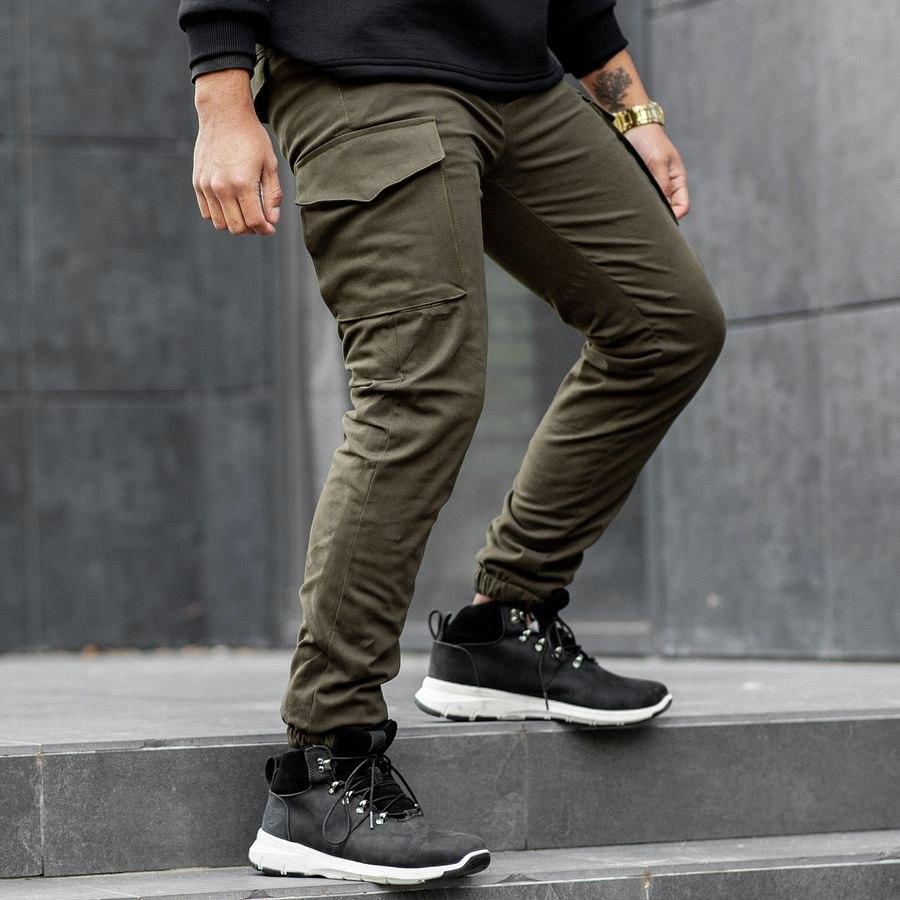Теплые карго штаны South khaki
