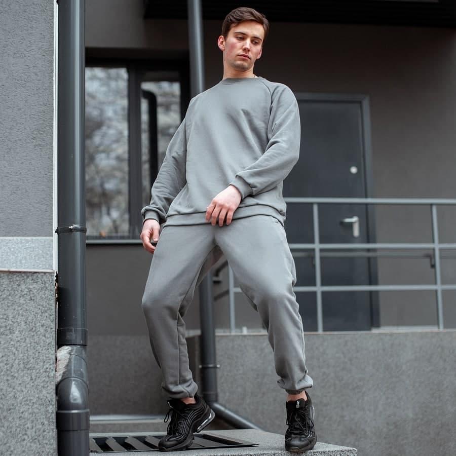 Спортивный костюм South basik gray (свитшот c манжетом) - фото 3