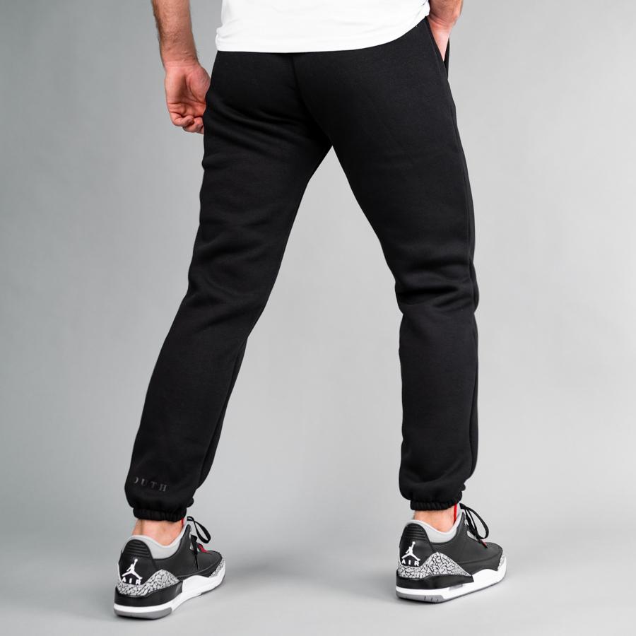 Спортивные штаны South basic  black fleece - фото 1