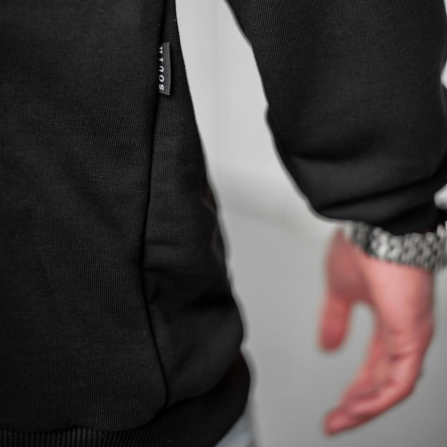 Свитшот South basik black  (с манжетом) - фото 4