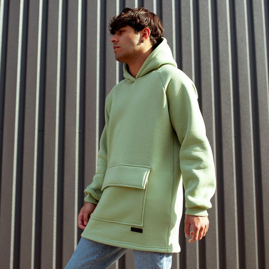 Худи South basic fleece mint oversize  - фото 1