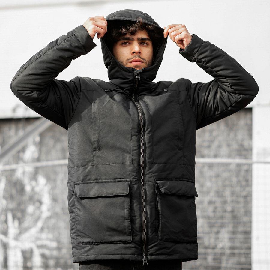 Зимняя куртка South originals black winter - фото 2