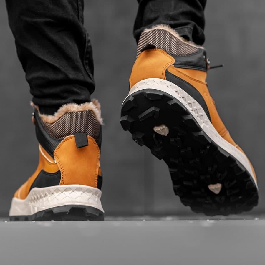 Мужские зимние ботинки на меху 0973 - фото 1