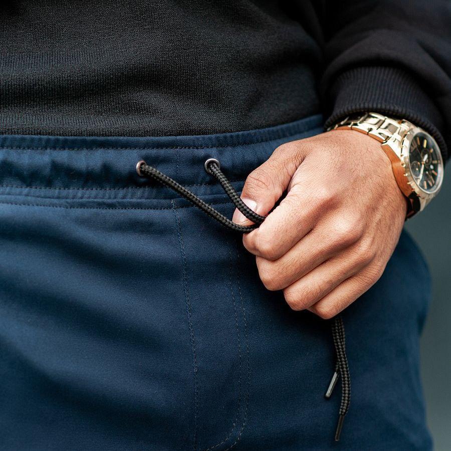 Теплые штаны джоггеры South navy - фото 3