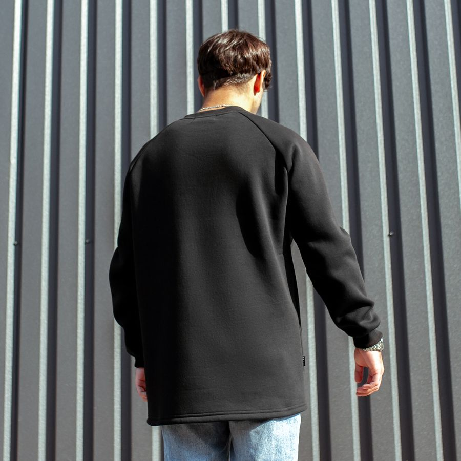 Свитшот South basic fleece black  oversize  - фото 2