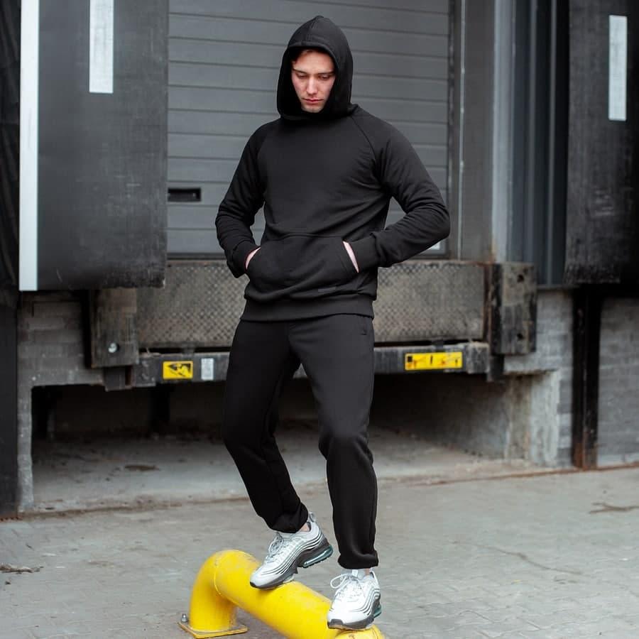 Спортивный костюм South basik black (худи с капюшоном)