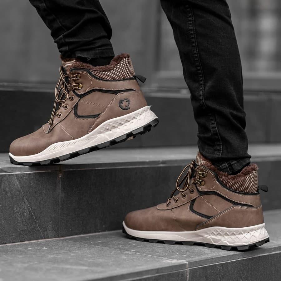 Мужские зимние ботинки на меху 0971 - фото 4