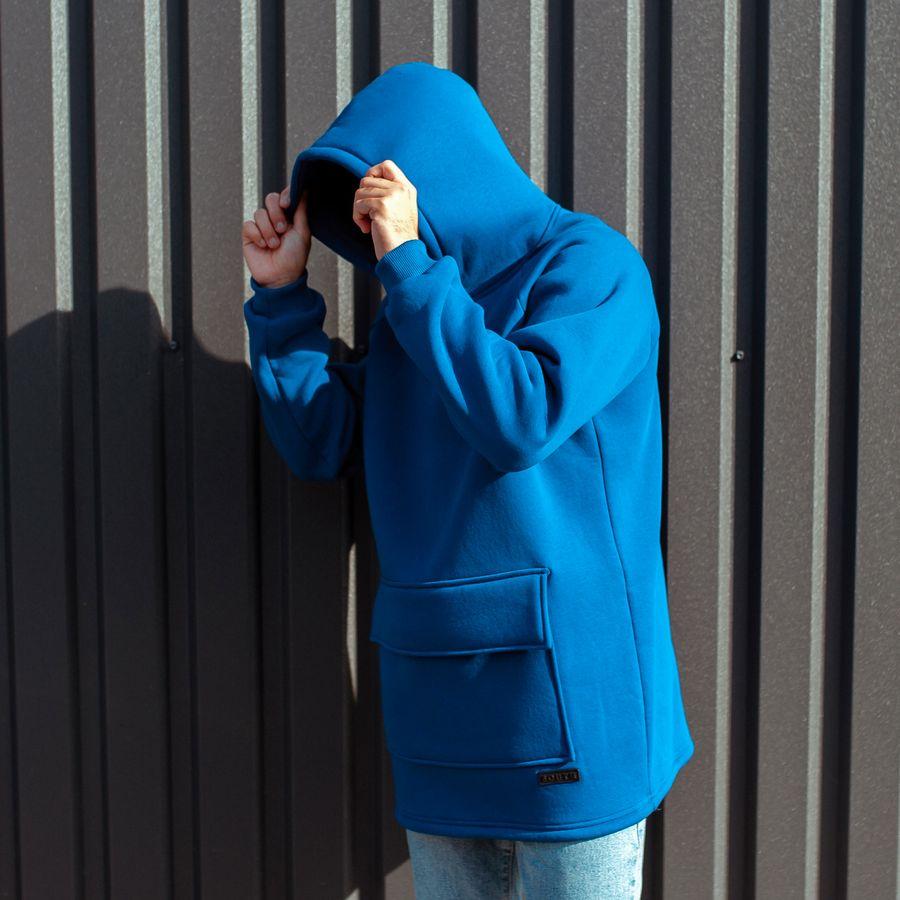 Худи South basic fleece electric oversize  - фото 6