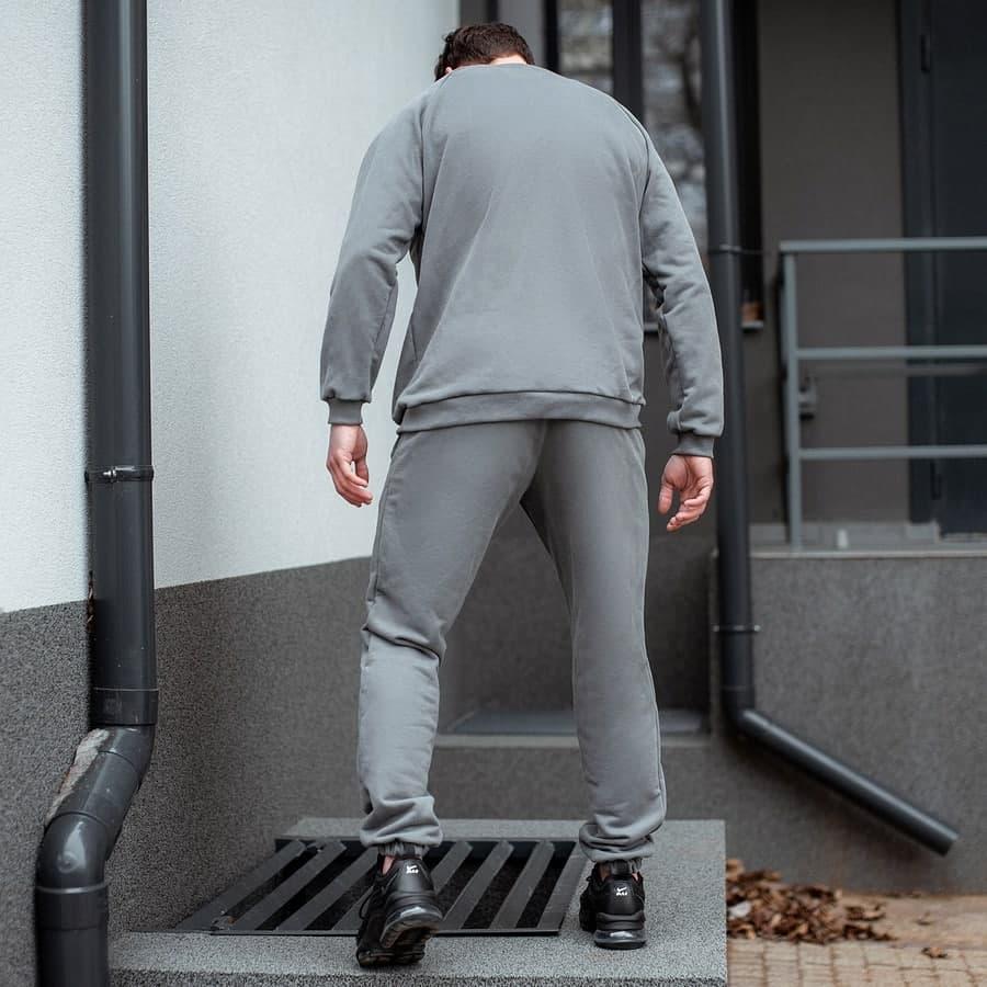 Спортивный костюм South basik gray (свитшот c манжетом) - фото 2