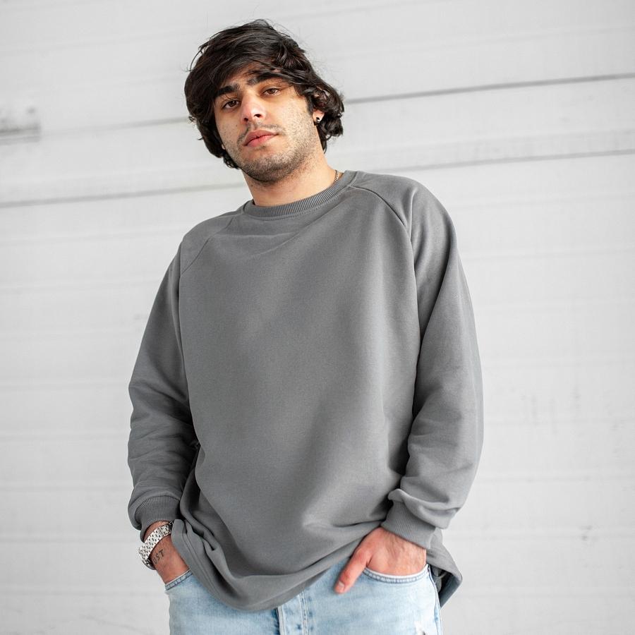 Свитшот South Oversize gray (без манжета)