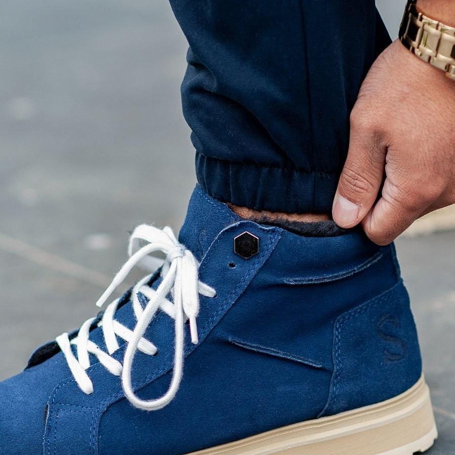 Теплые карго штаны South navy - фото 3