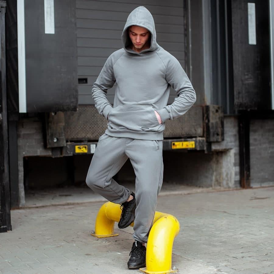 Спортивный костюм South basik gray (худи с капюшоном)