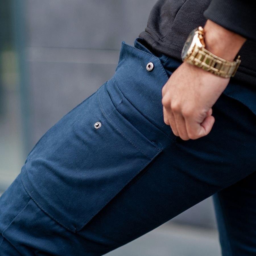 Теплые карго штаны South navy - фото 2