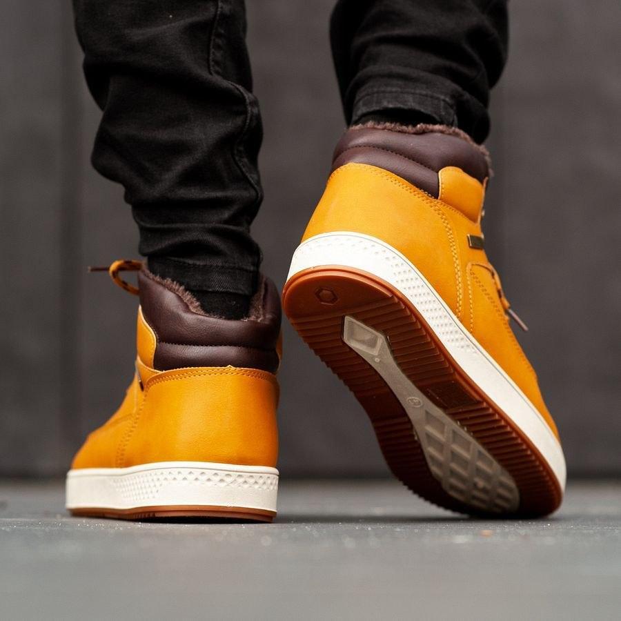 Мужские зимние ботинки на меху 0960 - фото 1