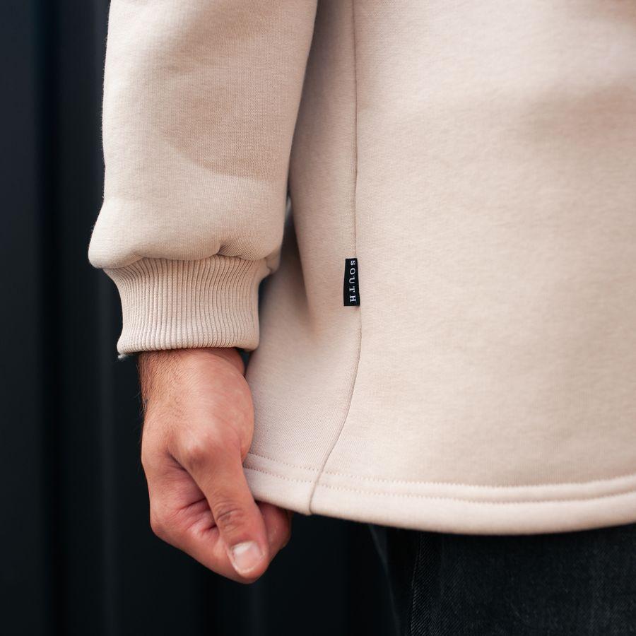 Свитшот South basic fleece beige oversize - фото 3
