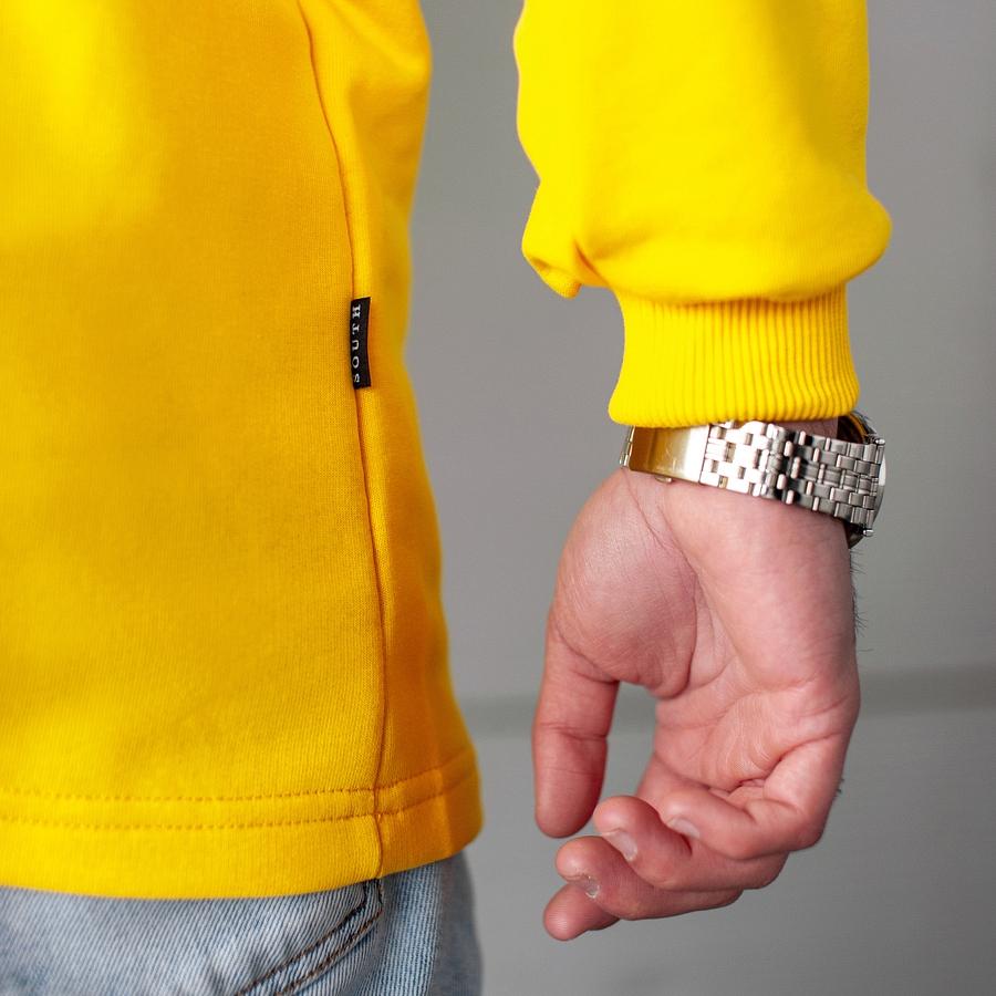 Свитшот South Oversize yellow (без манжета) - фото 4