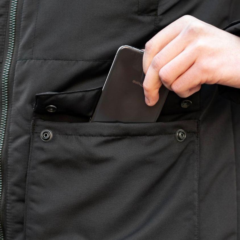 Зимняя куртка South originals black winter - фото 5