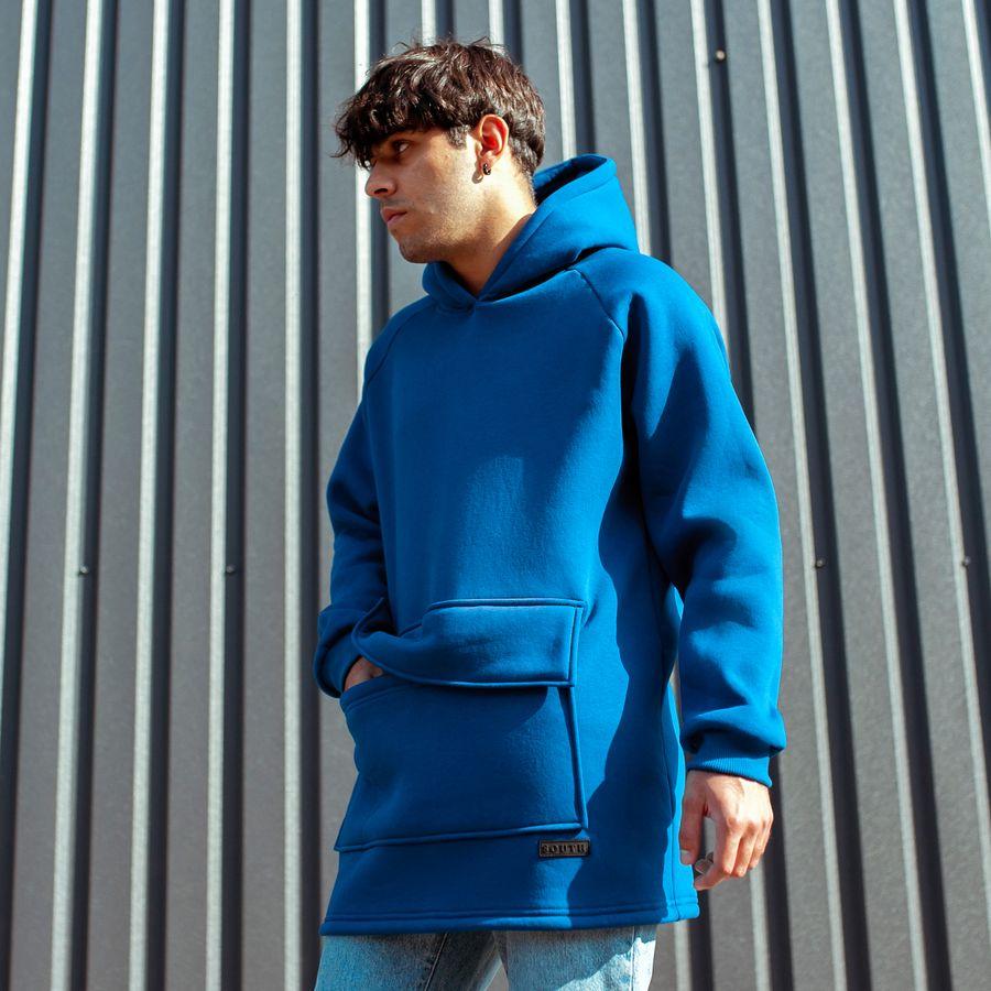 Худи South basic fleece electric oversize  - фото 3