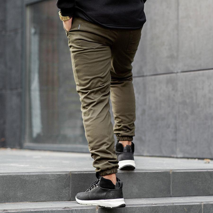 Теплые штаны джоггеры South khaki - фото 2