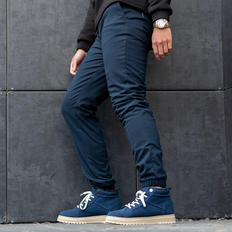 Теплые штаны джоггеры South navy - фото 4