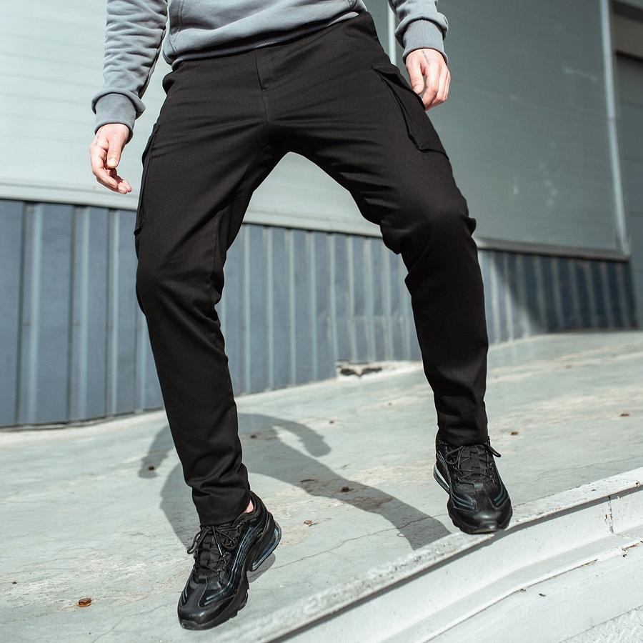 Карго штаны South black - фото 4