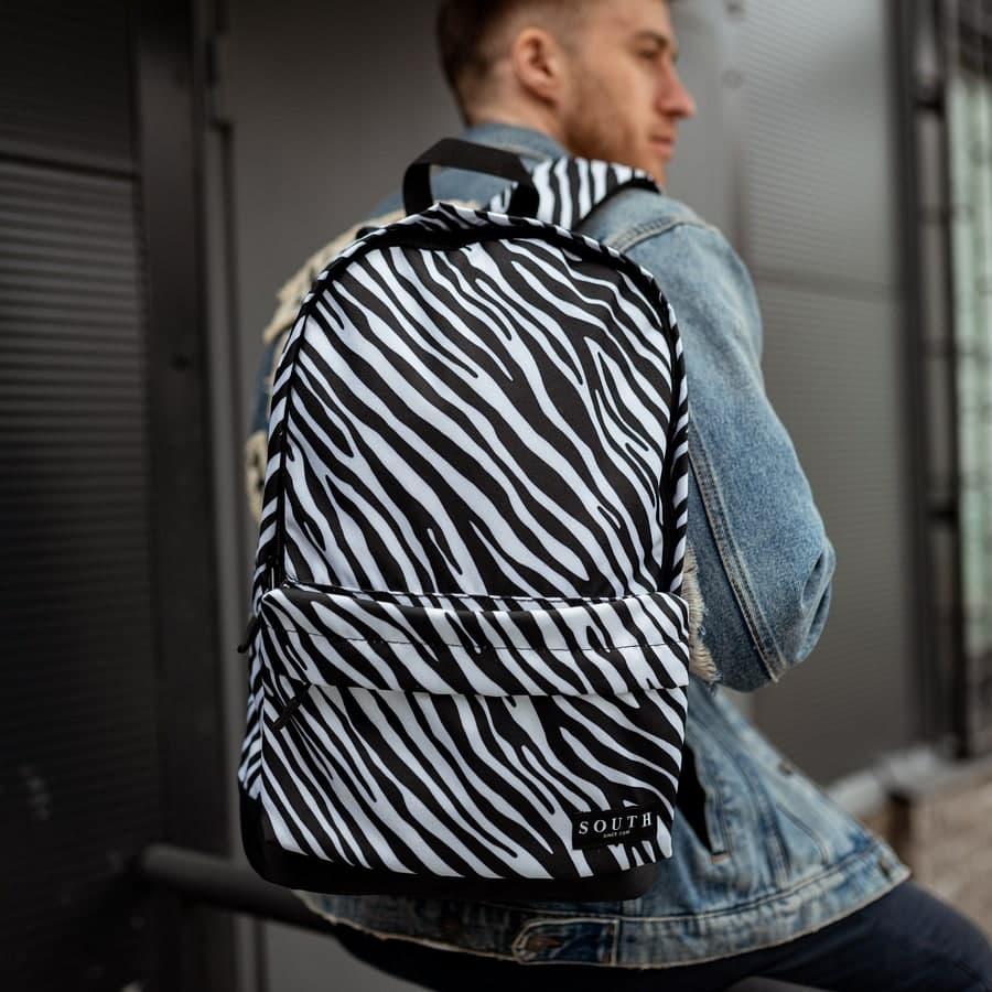 Комплект Рюкзак + Бананка Zebra - фото 1
