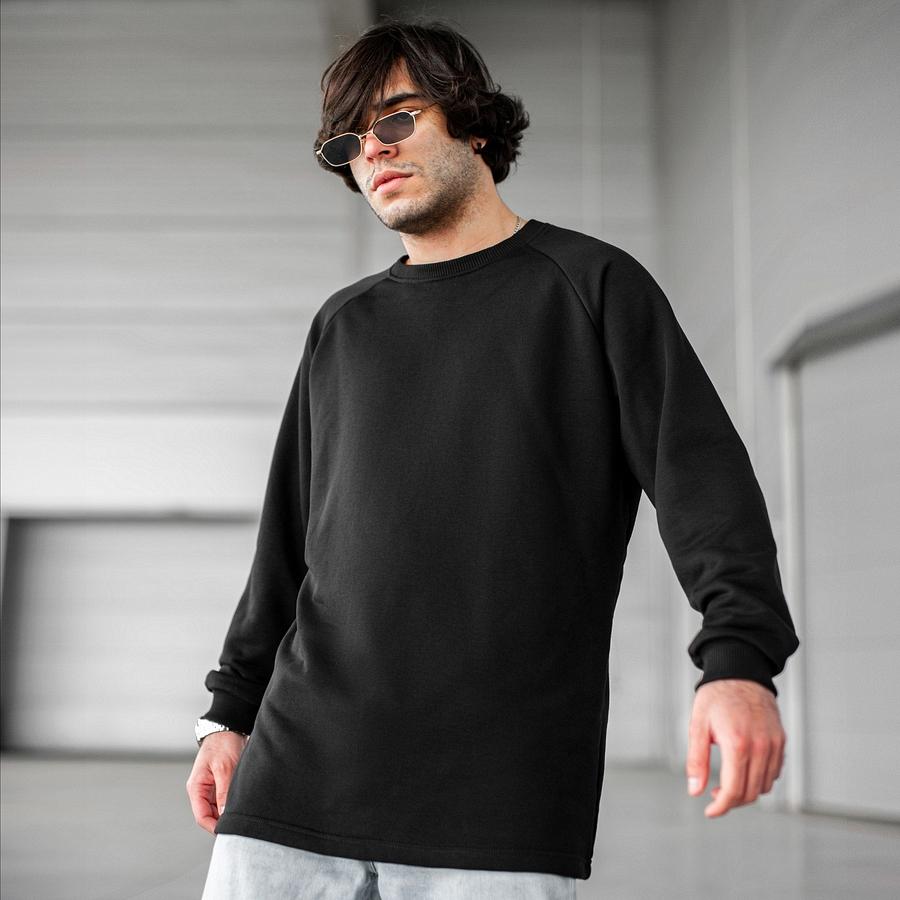 Свитшот South Oversize black (без манжета) - фото 1
