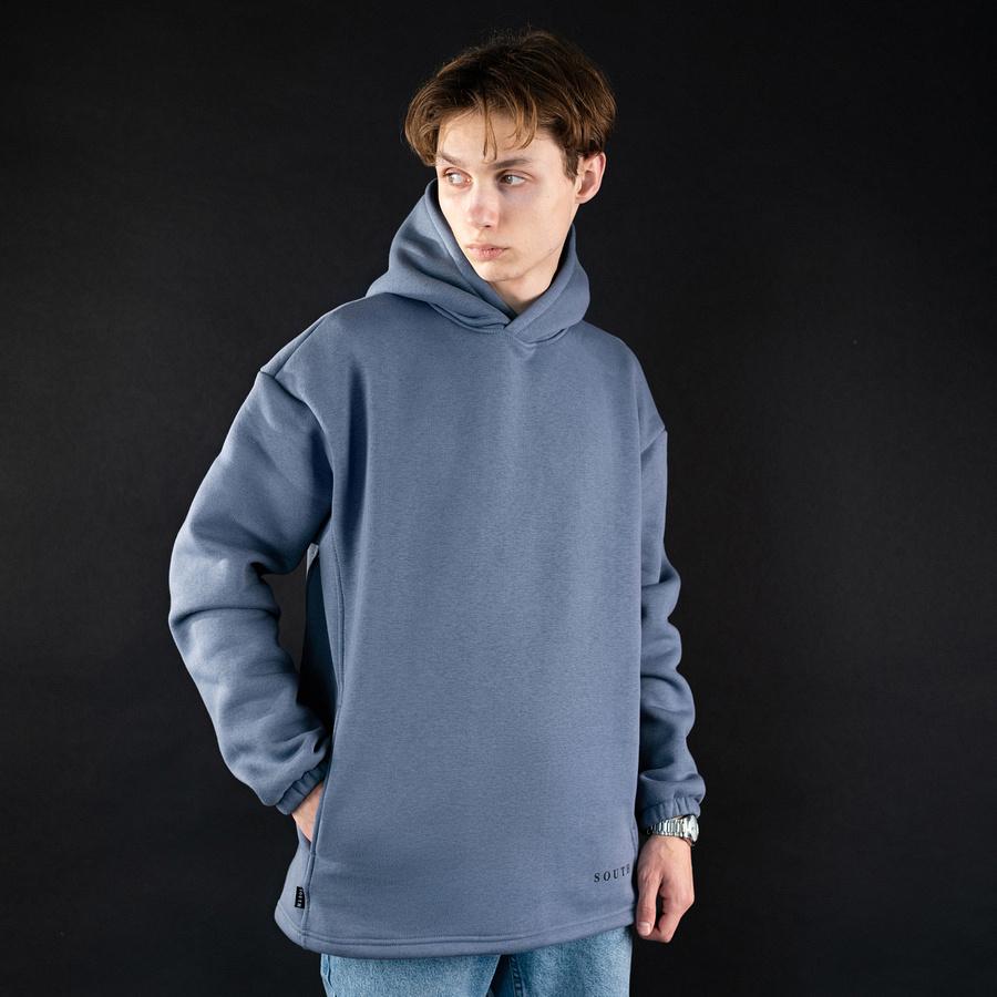 Худи South mamba gray oversize fleece