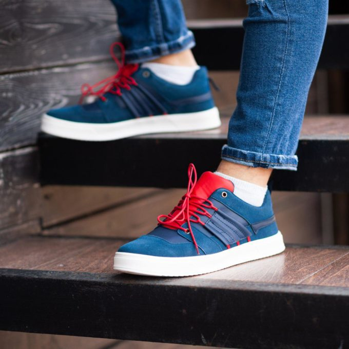 Кеды South Mason NAVY/RED - фото 1