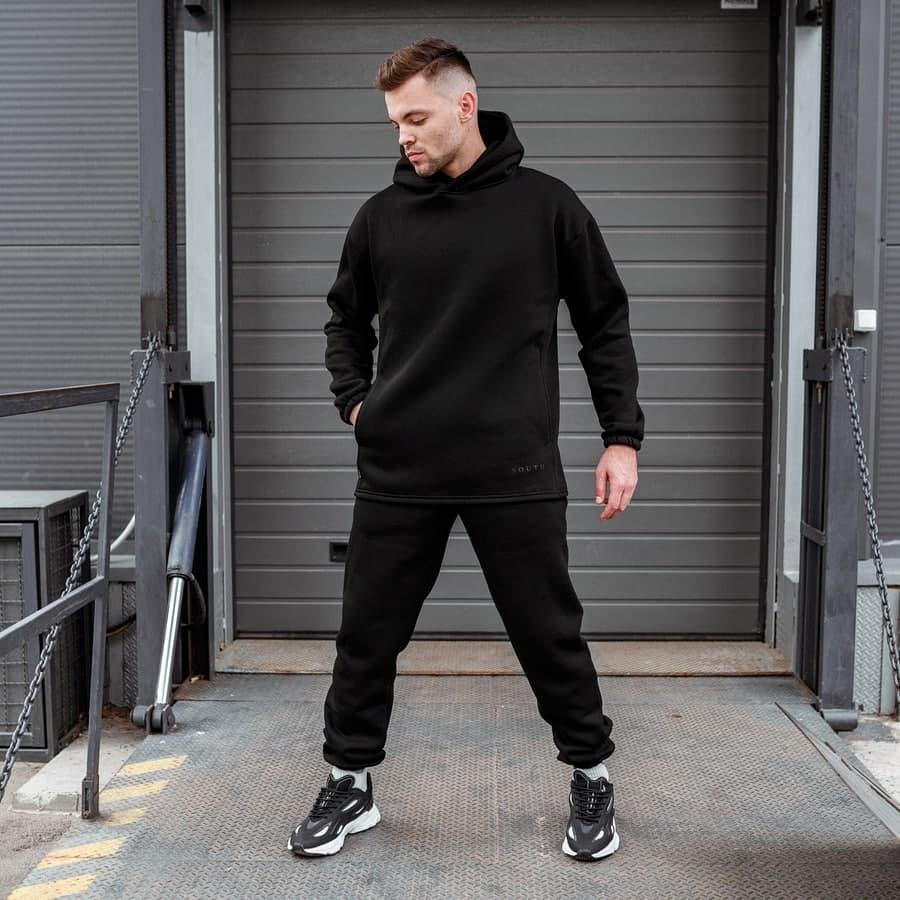 Спортивный костюм South mamba black oversize fleece