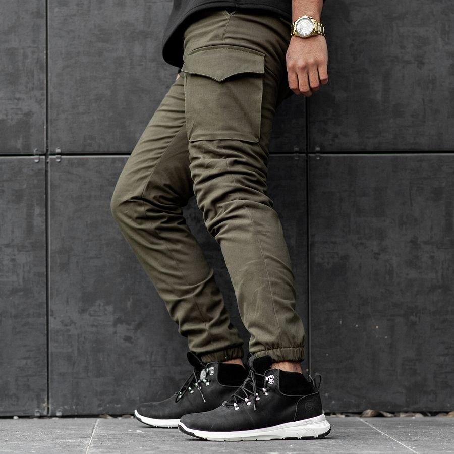 Теплые карго штаны South khaki - фото 4