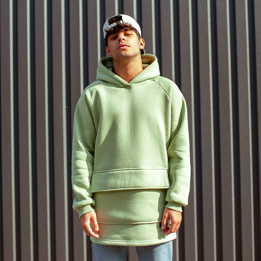 Худи South basic fleece mint oversize  - фото 4