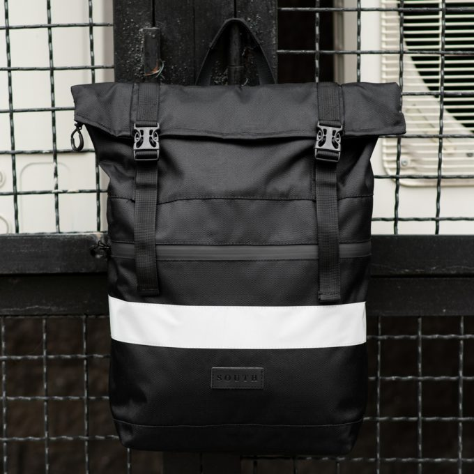 Рюкзак South ROLLTOP Black Classic reflective
