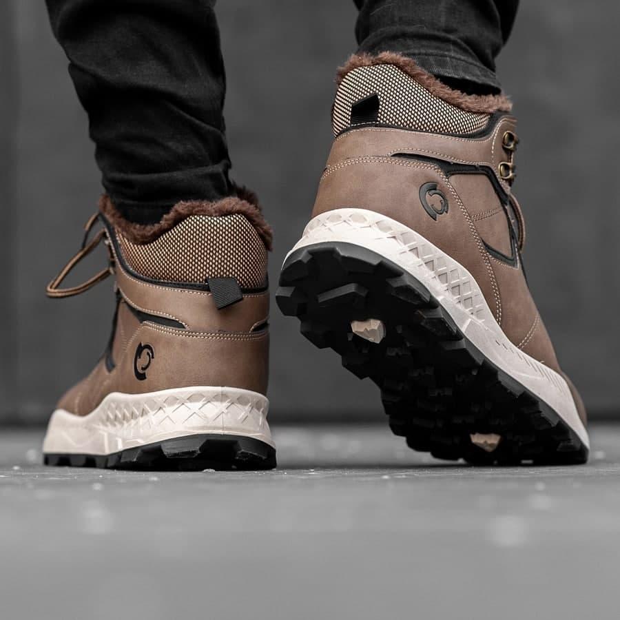 Мужские зимние ботинки на меху 0971 - фото 1