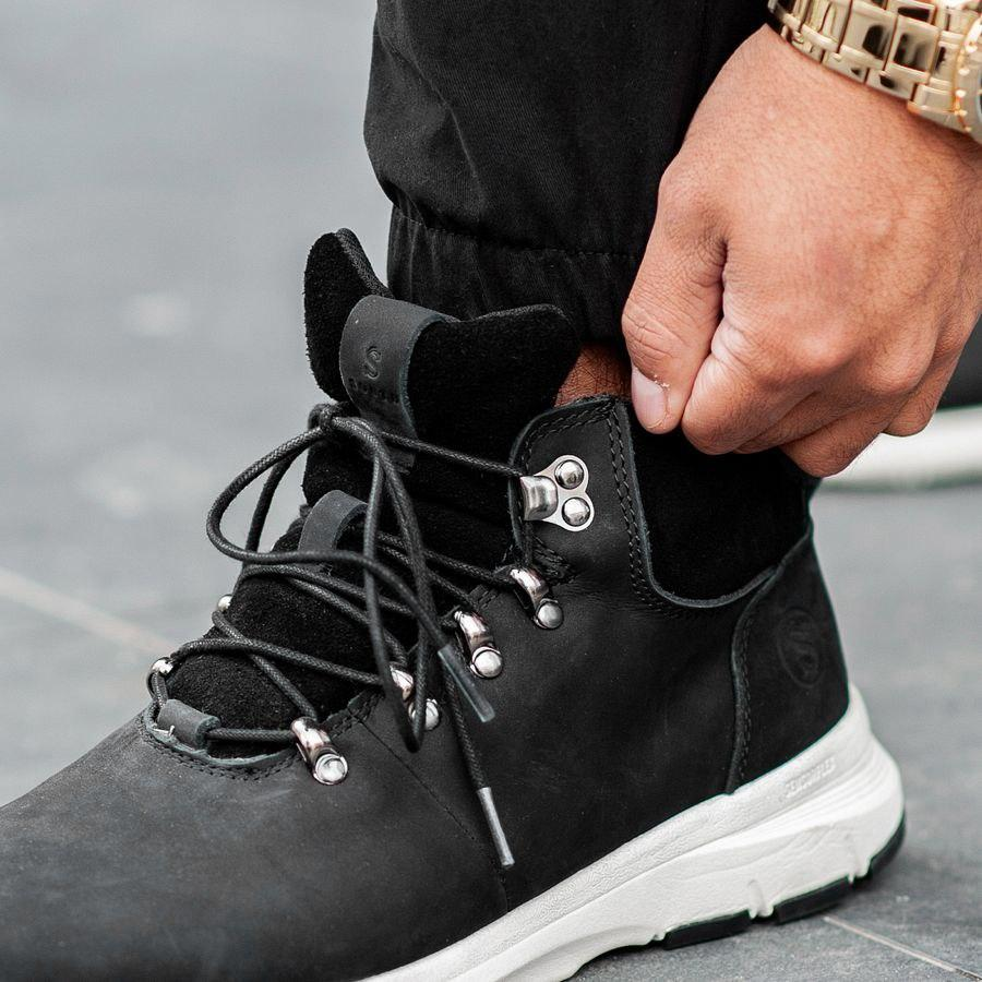 Теплые штаны джоггеры South black - фото 2