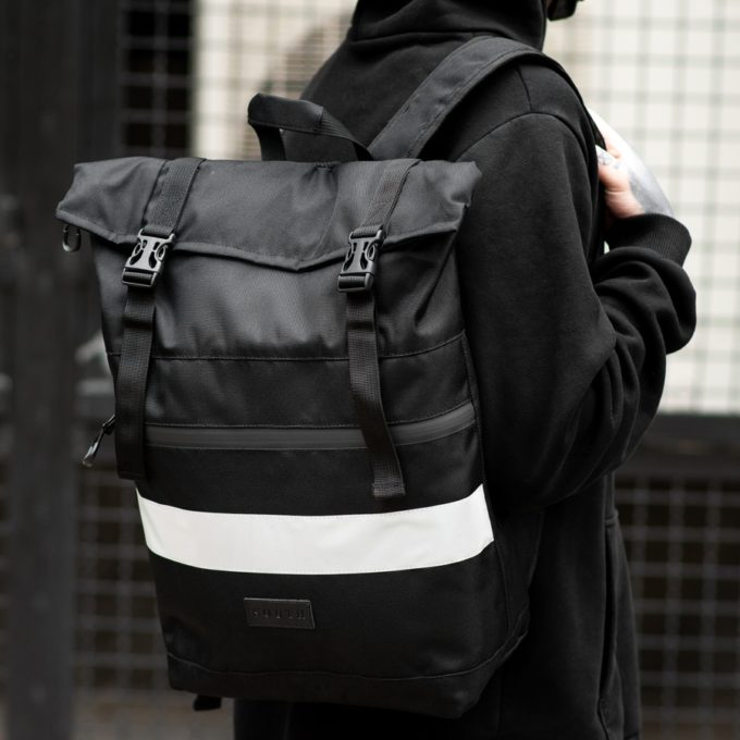 Рюкзак South ROLLTOP Black Classic reflective - фото 2