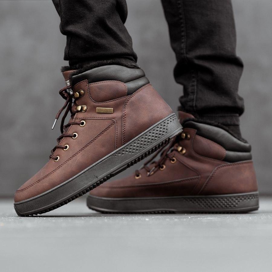 Мужские зимние ботинки на меху 0961 - фото 2
