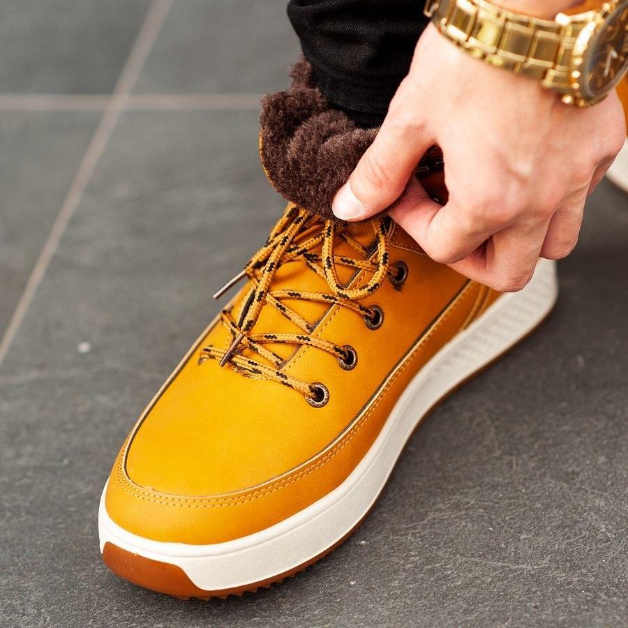 Мужские зимние ботинки на меху 0960 - фото 3
