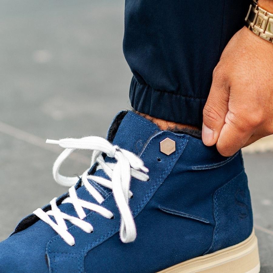 Теплые штаны джоггеры South navy - фото 2