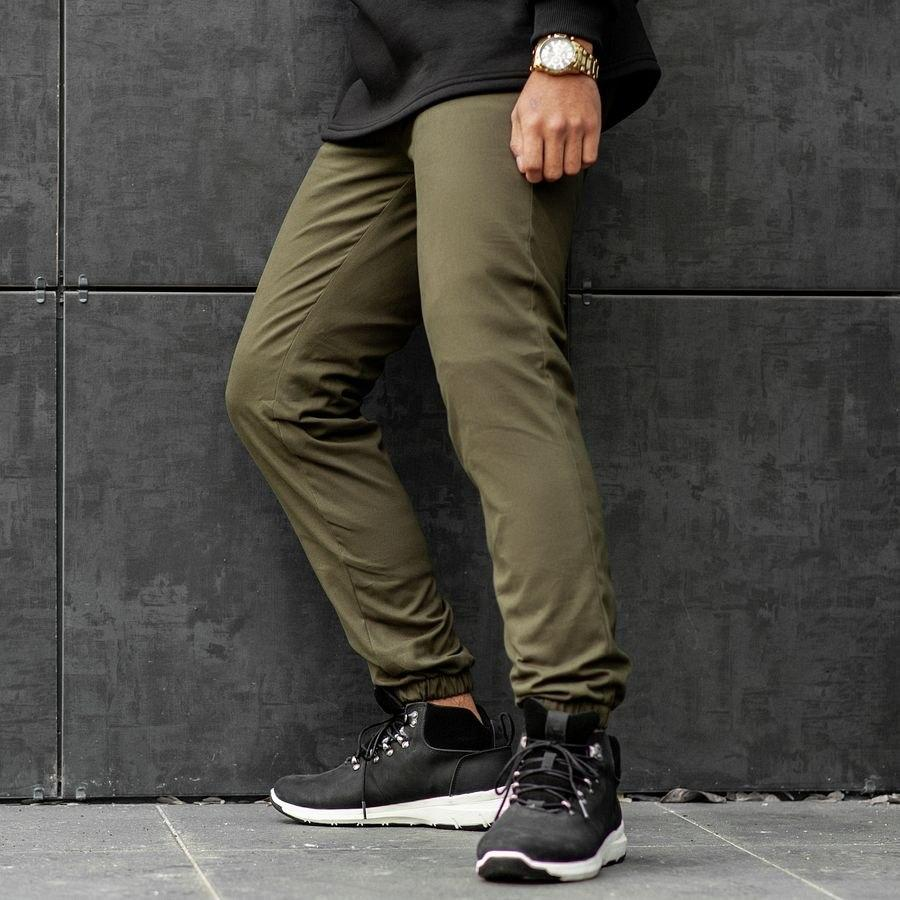 Теплые штаны джоггеры South khaki - фото 1